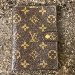 Louis Vuitton monogram mini agenda notebook wallet